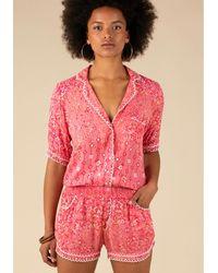 Poupette Short Jumpsuit Foe Lace Pink Paisley