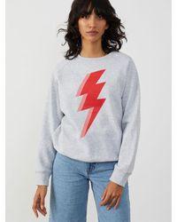 South Parade Rocky Thunderbolt Sweatshirt , Title:heathergry - Grey