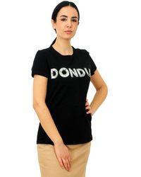 Dondup T-shirt With Sequins Black