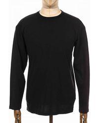 COLORFUL STANDARD Organic Cotton Long Sleeve Tee - Deep - Black