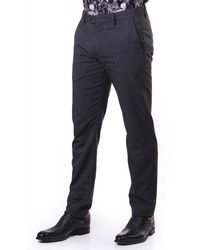 Ted Baker Sybili Slim Checked Pants - Gray