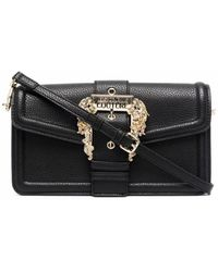 Versace Jeans Couture Versace Jeans Polyurethane Shoulder Bag - Black