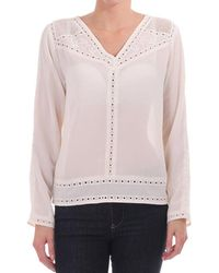 Maison Scotch - Embroidered Long Sleeve Top - Lyst