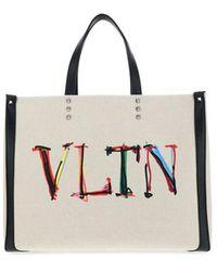 Valentino Garavani - Men's Vy2b0a35mnu3dm Beige Other Materials Tote - Lyst