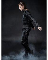 NÜ Bea-2-in-1-velvet-blouse - Black