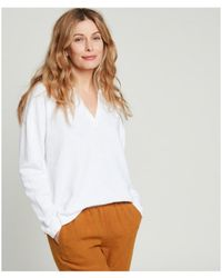 Hartford Tumelle Slub Cotton Fleece T-shirt - White