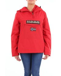 Napapijri Outerwear Short Women Red