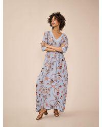 Mos Mosh Kanela Thistle Dress - Bel Air - Blue