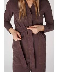 Kings Of Indigo Janelle Jumpsuit In Frosted Fig - Purple