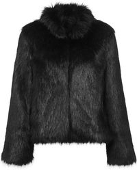 Unreal Fur Fur Delish Jacket In Black