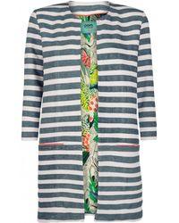 POM Amsterdam - Green Stripes Coat - Lyst