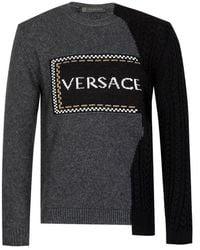Versace Cable Knit Sweatshirt - Gray
