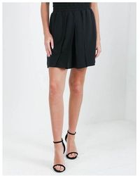 Emporio Armani Pleated Mini Skirt Colour: Black