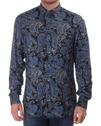 DIESEL Rui Large Paisley Print Shirt - Blue