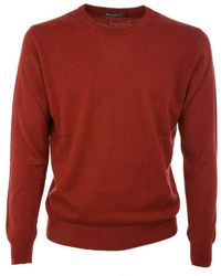 Ones Men's 00153251 Burgundy Cashmere Sweater - Red