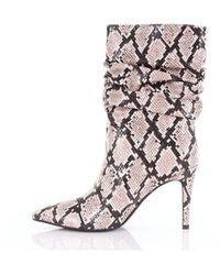 Jeffrey Campbell Animal-print Calf Boots - Pink