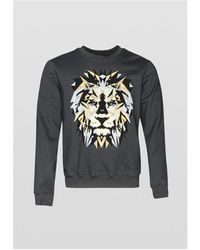Antony Morato Tiger Print Sweatshirt Black Colour: Black,