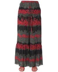 RED Valentino - Women's Sr3rbb254a10no Black Acetate Pants - Lyst