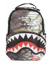 Sprayground Psycho Shark Camouflage Backpack - Multicolor