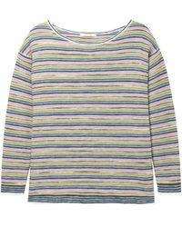 White Stuff Ladies Misty Lake Stripe Sweater - Green
