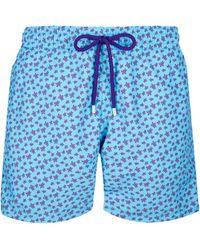 Vilebrequin Moorea Swim Short Micro Ronde Des Tortues Jaipur - Blue