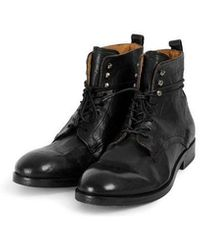 H by Hudson Yew Leather Boot Black Colour: Black,