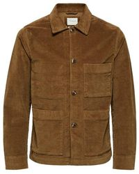 SELECTED Cord Work Jacket - Multicolor