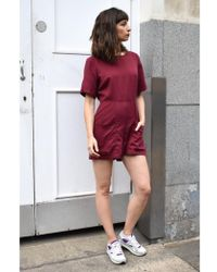 Native Youth - Pocket Red Playsuit - Lyst