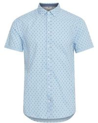 Blend Surf Board Print Shirt - Blue