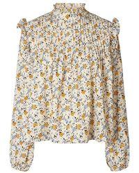 Lolly's Laundry Kalle Shirt Creme - Multicolour
