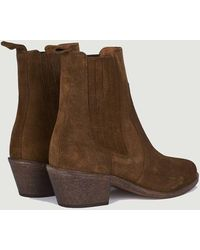 Anthology Sofia Suede Leather Boots Tabac 409 - Brown