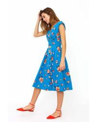 Emily and Fin Florence Summer Blooms Dress - Blue