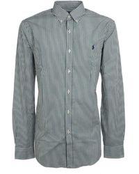 Ralph Lauren Men's 710767330014 Green Cotton Shirt
