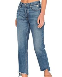 GRLFRND Helena Crop In Close To You Jeans - Blue