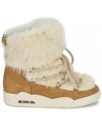 Serafini - Moon Castor Fur White Boots - Lyst