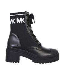 Michael Kors Women's 40t0brme5d012 Black Leather Ankle Boots