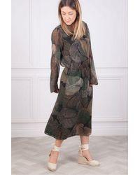 Hartford Roussel Big Tropical Leaves Dress - Multicolour
