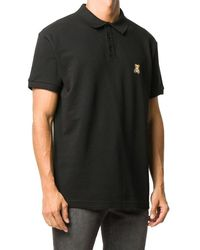 Moschino Teddy Bear-patch Polo Shirt - Black