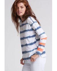 Lisa Todd Mesh Fest Long Sleeve Top - Tie Dye - Blue