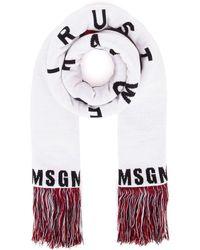 MSGM Wool Scarf - White