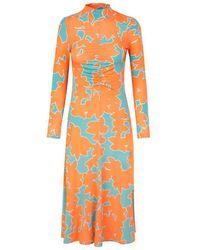 Stine Goya Asher Dress Flora - Orange