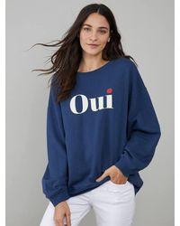 South Parade Alexa 'oui' Sweatshirt - Navy Blue