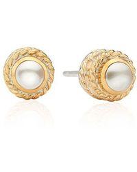 Anna Beck Pearl Stud Earrings - Metallic
