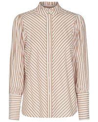 co'couture Cocouture Yvon Mustard Stripe Shirt - Multicolor