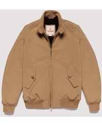 Baracuta G9 Authentic Fit Eco Fur Harrington Jacket - Tan - Brown