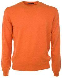 Ones Men's 00150410 Orange Cashmere Jumper