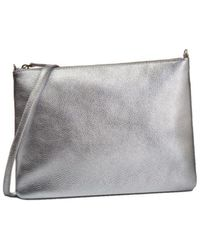 Coccinelle Cross Body Bag In Silver - Metallic