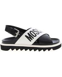 Moschino Cross Sandal - Black