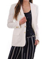 Polo Ralph Lauren Garment Dyed Cotton Blazer - White
