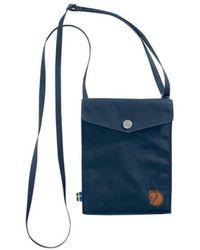 Fjallraven - Pocket Shoulder Bag, 24221-560-navy - Lyst